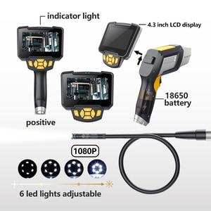 Image 3 - HD Endoskop 1080P 4,3 zoll 8mm Inspektion Kamera für Auto Reparatur Werkzeug IP67 Wasserdicht Schlange Rohr Endoskope 30