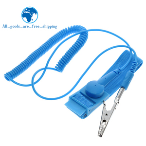 TZT Cordless Wireless Clip Antistatic Anti Static ESD Wristband Wrist Strap Discharge Cables For Electrician IC PLCC worker