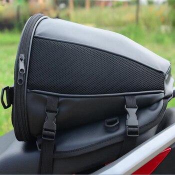 Motorcycle Tail Bag Motorbike Seat Back Bag Saddle Bag Rear Seat Package Waterproof Moto Motorbike Travel Saddle Tail Handbag ring detail saddle bag