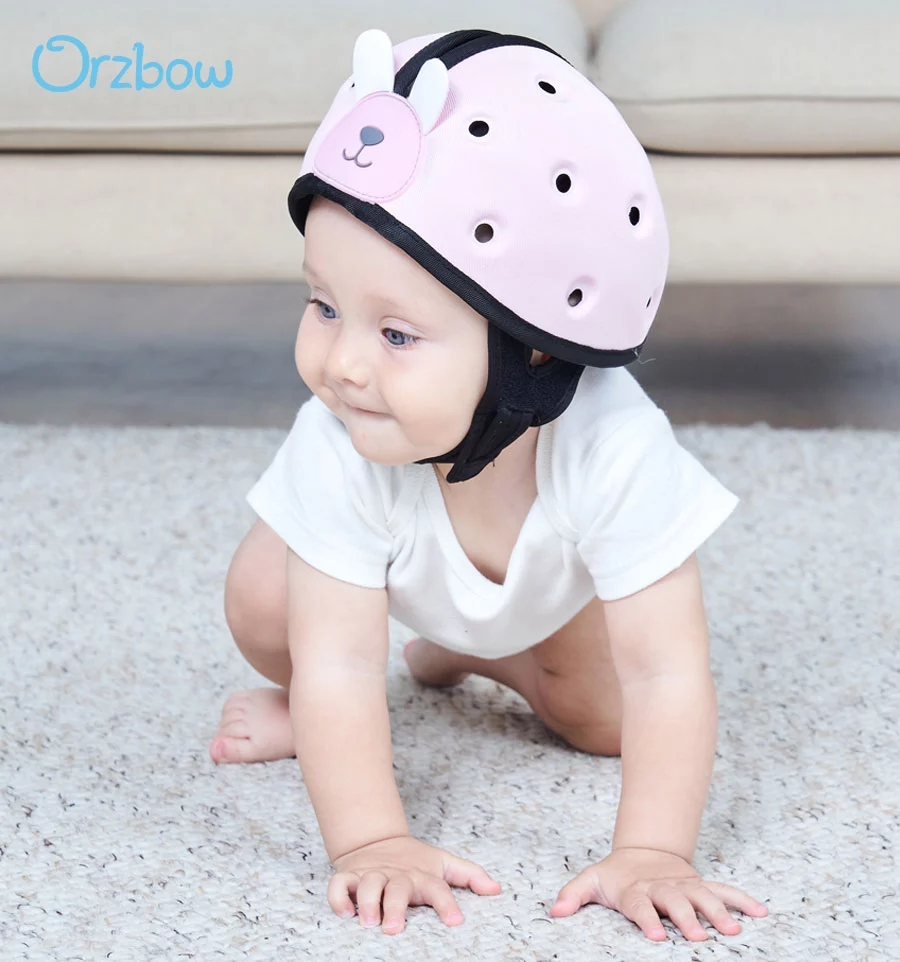Шлем Orzbow детский для защиты головы дома, светильник защитный шлем для обучения ходьбе, для малышей