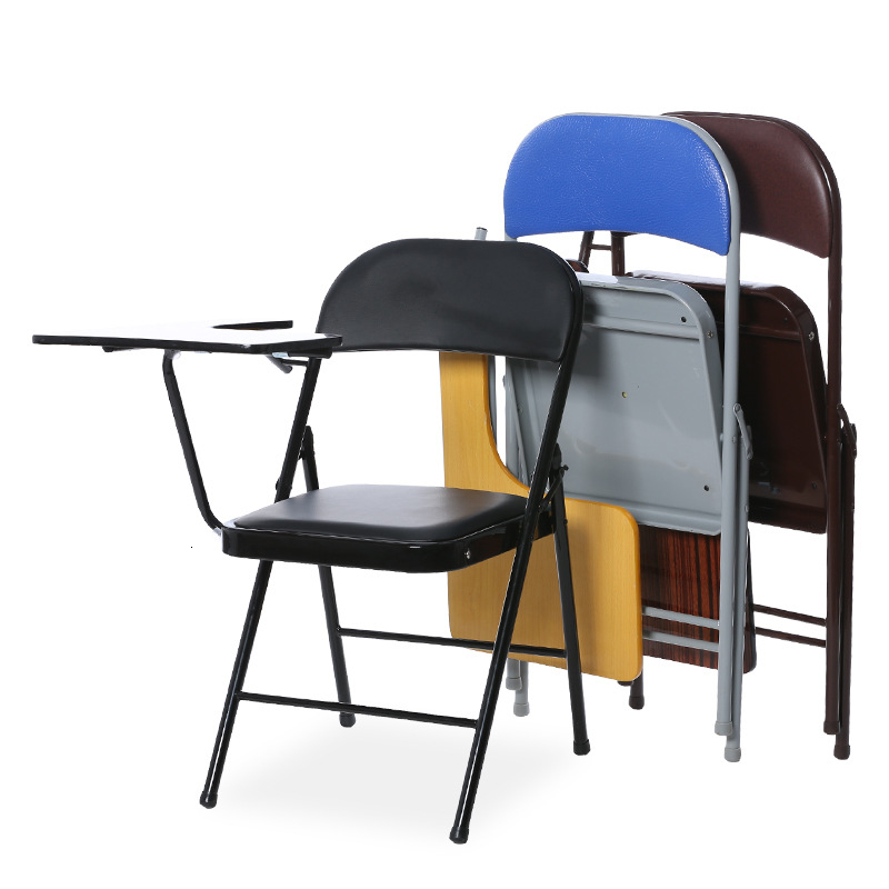 Office Folding Chair With Table Board Writing Board Conference Training Chair