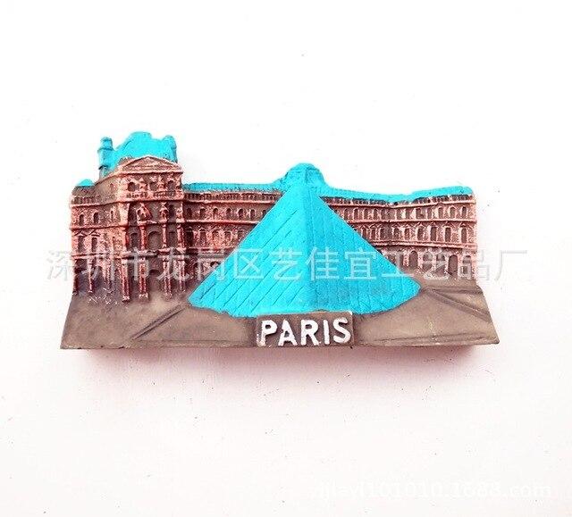 3D Resin Fridge Magnets Italy Berlin France Paris London Switerland Tourism Souvenir Magnetic Refrigerator Stickers Home Decor 4
