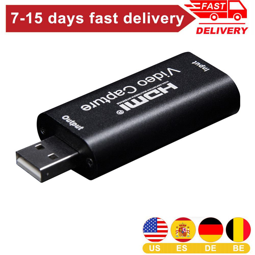 Mini Video Capture Card USB 2.0 HDMI Video  Record Box Game DVD Camcorder HD Camera Recording Live Streaming