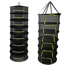 Layers Drying Net for Herbs Hanging Basket Folding Dry Rack Herb Drying Net Dryer Bag Mesh For Flowers Buds Plants Organizer