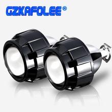 GZKAFOLEE Mini 2.5 بوصة العالمي ثنائية زينون HID ل GTl H4 H7 دراجة نارية سيارة العلوي العارض لين 9005 9006 H11 H8 HB3 ترقية