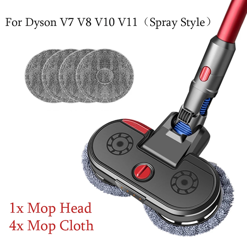 Насадка для пылесоса Dyson V7 V8 V10 V11, 1 шт. + 4 шт. ткани, аксессуары для уборки дома