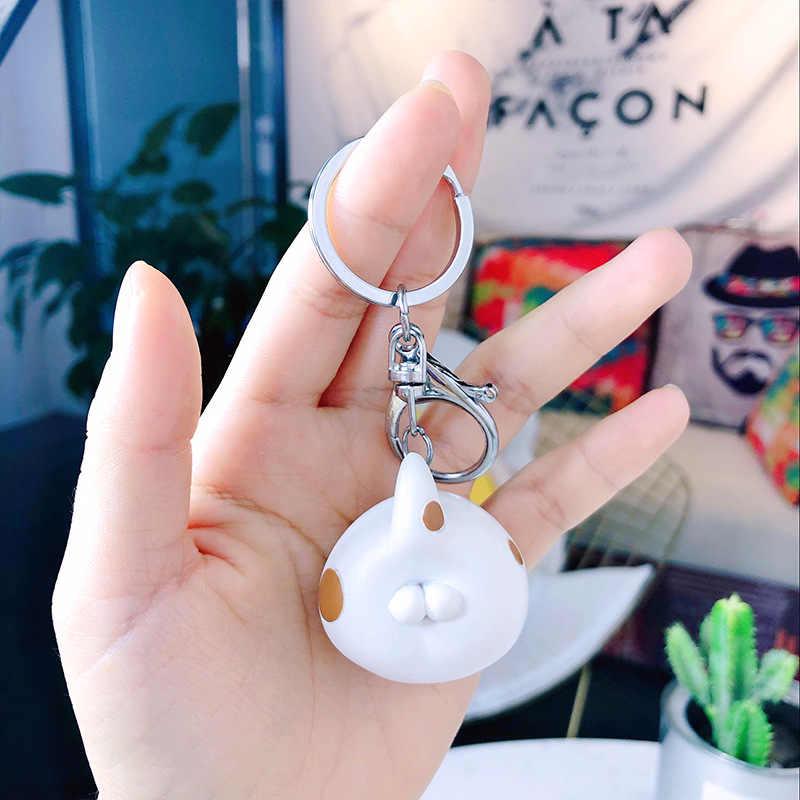 2019 Criativa Dos Desenhos Animados Resina Boutique chaveiro Boneca Bonito Casal Menina Elf Saco Anel chave Chaveiro Pingente de Anjo personalizado