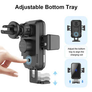 Image 4 - 10W QI Wireless Car Charger For Iphone X Samsung S10 Fast Charge Air Vent Dashboard Car Mount Auto Clamping Car Wireless Charger