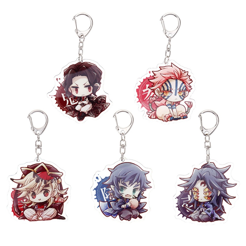 Брелок для ключей из аниме «рассекающий демонов», милая акриловая подвеска для косплея из двух частей, Kimetsu No Yaiba