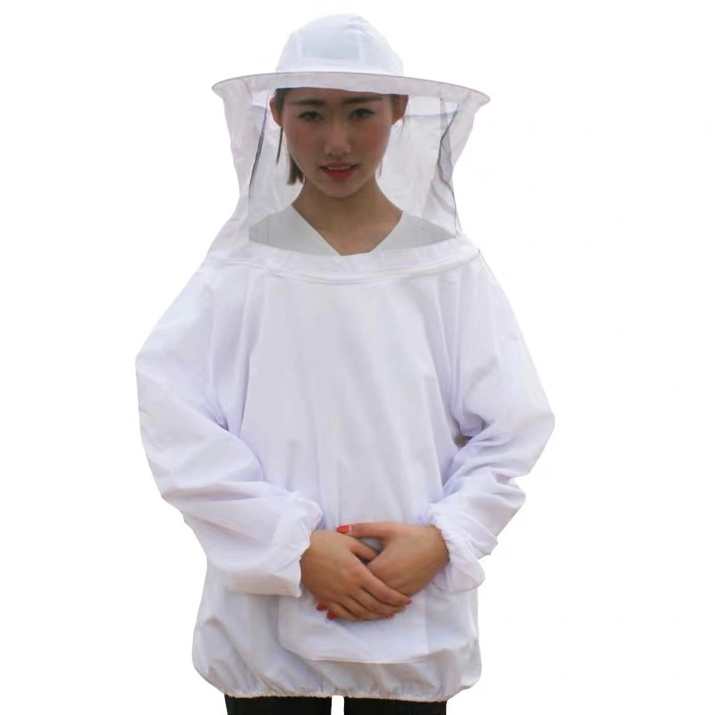Beekeeping Clothes Storage Pocket Anti-bee Clothing Siamesed Head Mask Of Upper Outer Garment For Anti Bee Suit
