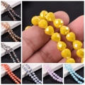 8mm Crystal Glass Faceted Teardrop Ball Loose Craft Beads Jewellery Making