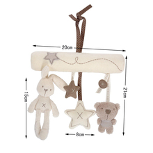 Baby Hanging Bell Stroller Toy Rattles Plush Doll Animal Infant Soft Play