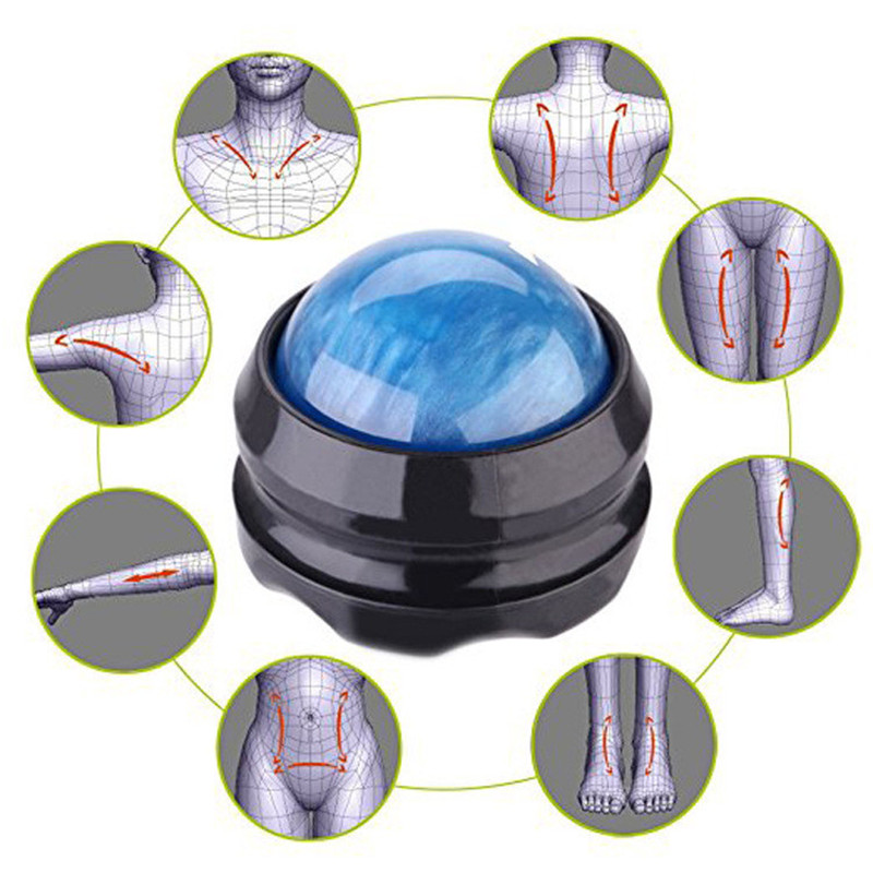 Massage Roller Ball Massager Body Therapy Foot Back Waist Hip Relaxer Stress Release Muscle Relaxation