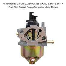 Carburateur pour moto, pour Honda GX120 GX160 GX168 GX200 5.5hp + 6.5hp + joint de tuyau de carburant, moteur de tondeuse