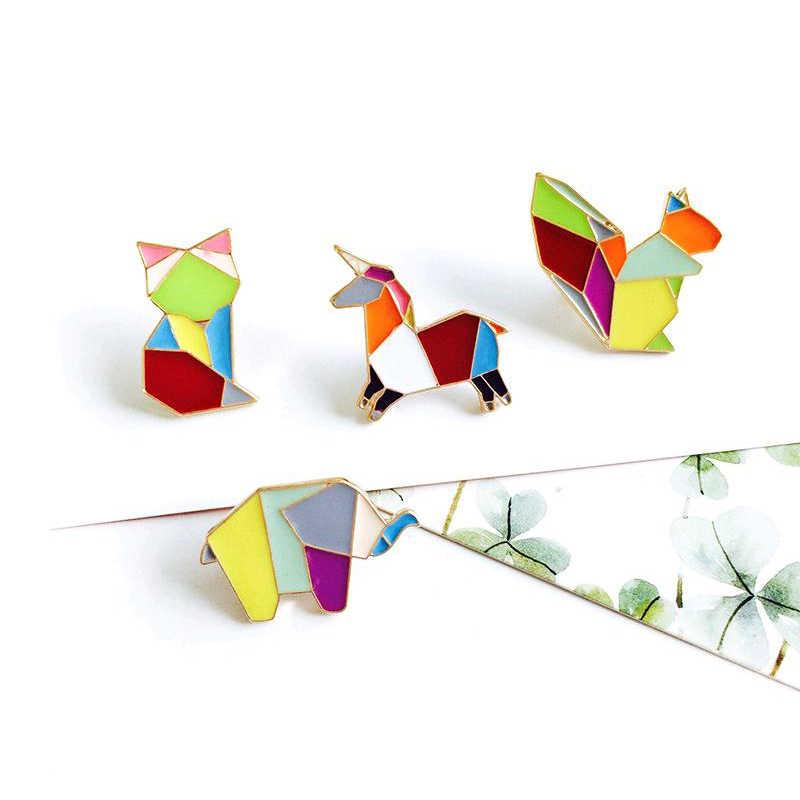 Kartun Hewan Bros Lucu Kucing Anjing Fox Kelinci Tupai Pin Bros Mantel Ransel Enamel Pin Lencana Perhiasan Hadiah untuk pecinta