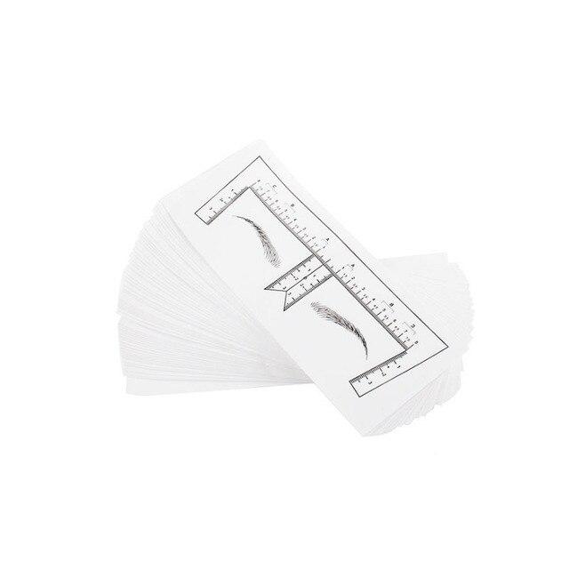 Microblading Stencils Eyebrow Ruler Sticker Eyebrow Shaping Stencils Microblading Supplies Disposable Adhesive Eyebrow Template