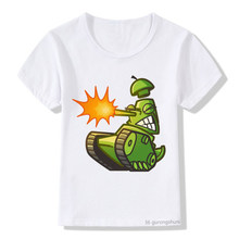 Crianças t-shrt tanque engraçado dos desenhos animados imprimir t camisa meninos/meninas harajuku verão roupas de manga curta topos crianças roupas de rua