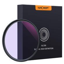 K & F Concept filtro de noche transparente, múltiples capas para recubrimiento de reducción de contaminación de Nano cielo nocturno/Estrella, 52/58/67/72/77/82mm
