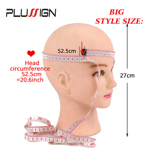 Image 3 - Plussign 20.5 Inch Mannequin Head For Wigs With Stand Bald Wig Head With Stand Foam Head For Make Up White And Dark Brown Color