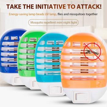 Nowa elektryczna lampa zabijająca komary domowe muchy robaki środek odstraszający owady Zapper pułapka wyciszenie Radiationless Fly zabijanie światło ultrafioletowe wtyczka US EU tanie i dobre opinie oobest CN (pochodzenie) 16m² Mosquito Killer Lamps 110-240 v Akumulator 50000 13cm x 8 6cm x 7cm 0 1 AM US plug EU plug