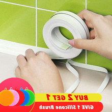 PVC Adhesive Tape Durable Use 1 ROLL Kitchen Bathroom Wall Sealing Gadgets Waterproof Mold Proof 3.2mx3.8cm/2.2cm
