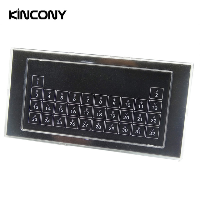Kincony 32 Button Keyboard Wall Self Reset Switch Module Dry Contactor for KC868 Smart Home Automation Control System Controller