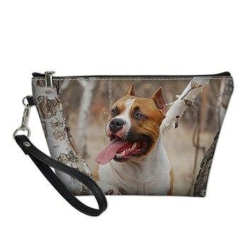 Bolsos Para mujer con patrón de perro Terrier Bolso organizador de cosméticos Mini bolsas de Maquillaje Para niñas adolescentes Bolso Para Maquillaje Dropship