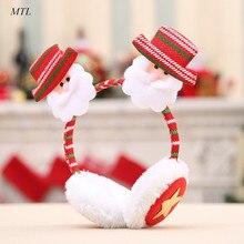 MTL Christmas Gifts Snowman Santa Claus Winter Warm Earmuffs For Adult Children