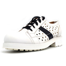 High Street Men Breathable Hollow Out Casual Shoes Lace Up Med Heels To