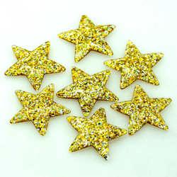 37X39mm 10PCS Resin shiny Star Cabochon|Resin Flat back Embellishments Decoration Bling Stars