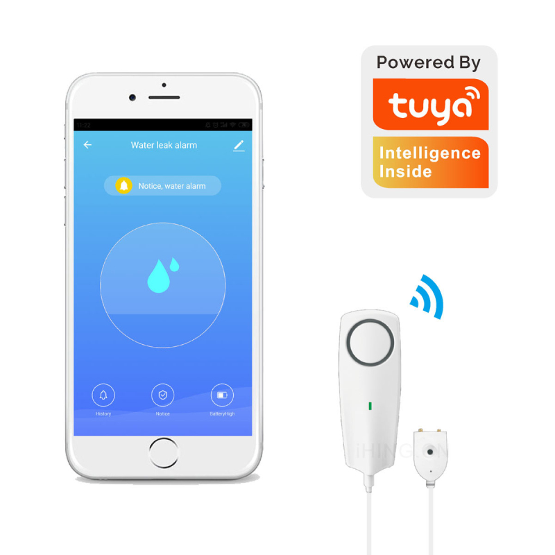 Liquid Leak Sensor Wireless Water Level Detector Leakage Overflow Buzzer Tuya Push Alarm Warns