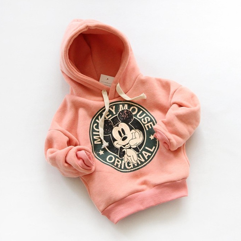 Fashion Boys Girls Sport Hoodies Sweatshirt Coat For Autumn Baby Kids Clothes Tops Mickey Jackets Outerwear Children Clothing
