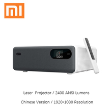 Xiaomi mijia projetor a laser 1080p hd completo 2400 ansi lumens android wifi bluetooth aldp casa teatro led luz proyector 2 + 16gb