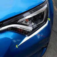 2pcs ABS Chrome Headlight Front Lamp Trim For Toyota RAV4 2016 2017 2018
