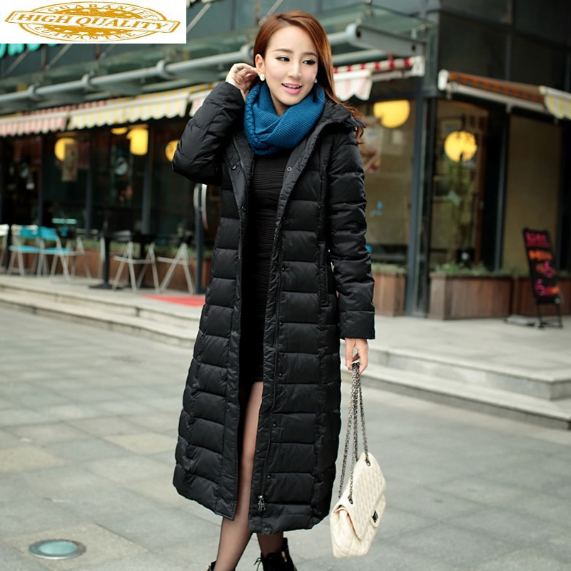 Jackets For Women Parka 2020 Hot Sale Warm 90% White Duck Down Winter Jacket Thick Slim Long Hood Coats Women Plus Size HJ569