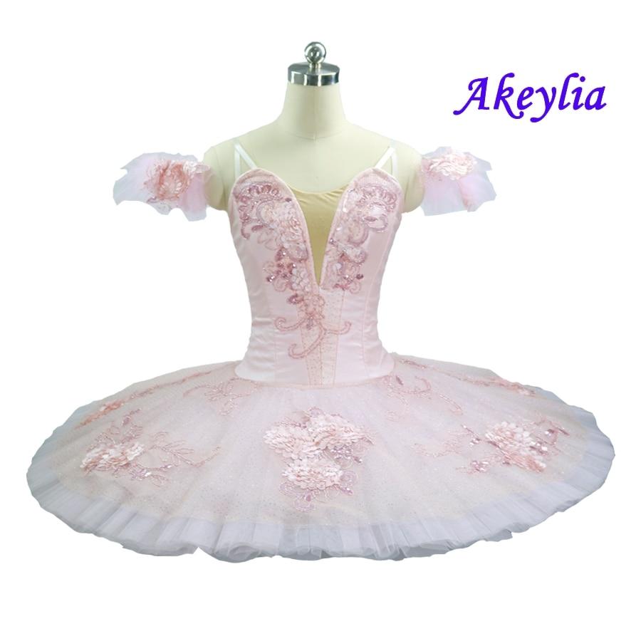 Professional Tutu Ballet Adult Pink Fairy Doll Girls Classical Costume Ballet Performance Tutu Pancake Competition La Sylphide