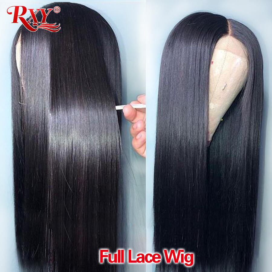 RXY Pre Plucked Full Lace Human Hair Wigs With Baby Hair Brazilian Human Hair Wigs Glueless Full Lace Wigs For Women Remy Hair
