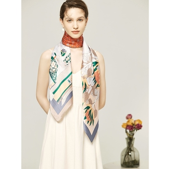 Square scarves windproof and warm silk scarves manufacturers spot direct selling gifts silk scarves