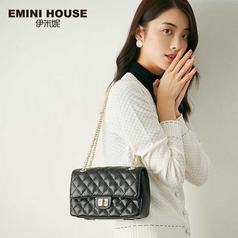 Mini casa diamante treliça saco de corrente clássico sacos crossbody para as mulheres bolsa de ombro bolsas de luxo bolsas femininas designer