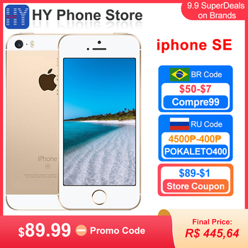 Apple iPhone SE 16GB ROM Unlocked Smartphone iOS A9 Touch ID 12MP Camera 4 inch Screen iphones SE Cell phone 1