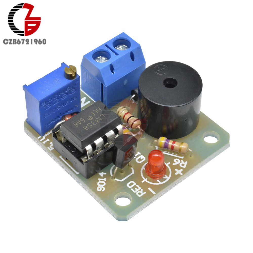 Placa de proteção do detector sonoro do alarme da descarga da sobrecarga da subtensão da baixa tensão da bateria de armazenamento do acumulador 12 v