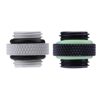 G1/4 Dual External Thread Hose Connector for PC Water Cooling System image