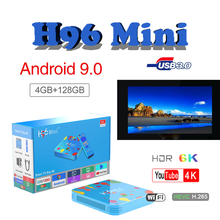 TV Box android 9.0 H96 MINI 4GB 32GB/128GB tv box Allwinner H6 Quad Core 6K H.265 Media Player support ip tv android tv box