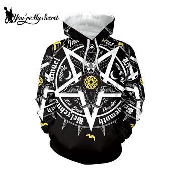 цена [You're My Secret] Gothic Women Hoodies Star Of David Hooded Ouija Board Pentagram Witchy Sweatshirt Top Female Streetwear Hoody онлайн в 2017 году