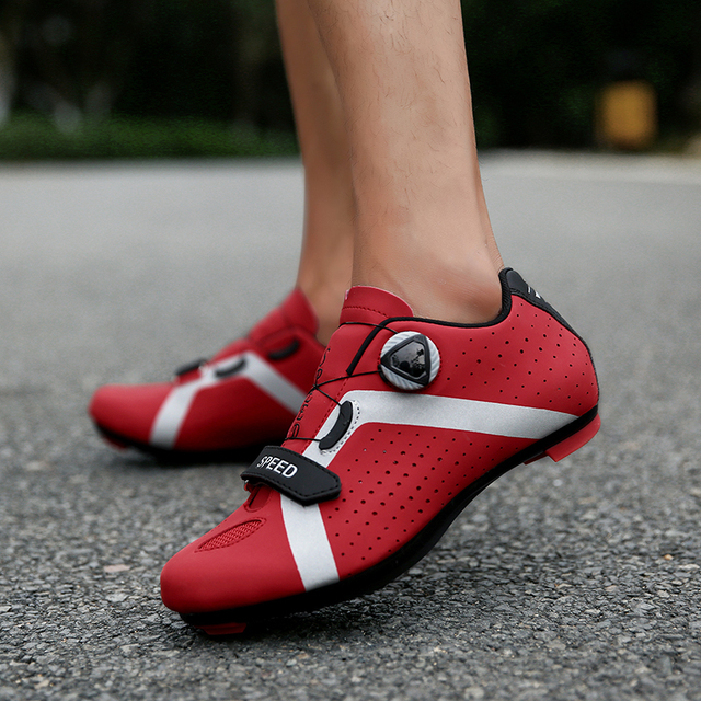 Profissional atlético sapatos de bicicleta mtb sapatos de ciclismo homem auto-bloqueio sapatos de bicicleta de estrada 4