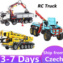 Ship From Europe lepinblocks KING 20004 20005 20056 technic rc Motor power mobile crane MK Building Blocks 42070 42009 brick Toy(China)