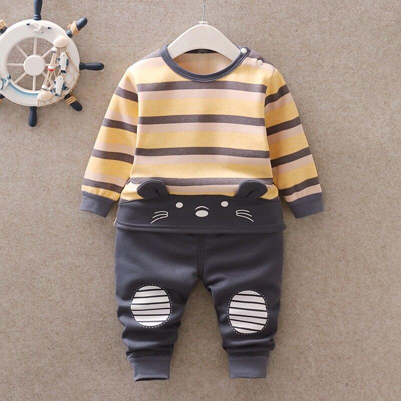 Baby Kids Pajamas Sets Boys Sleepwear Suit Autumn Winter Warm Girls Long Sleeve Pijamas Tops+Pants 2pcs Children Clothing 5