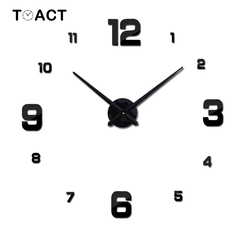 Zegar ścienny kwarcowy 3D zegarek do samodzielnego wykonania nowoczesny Design zegary ścienne naklejki salon duże dekoracyjne lustro akrylowe wiszące zegarki