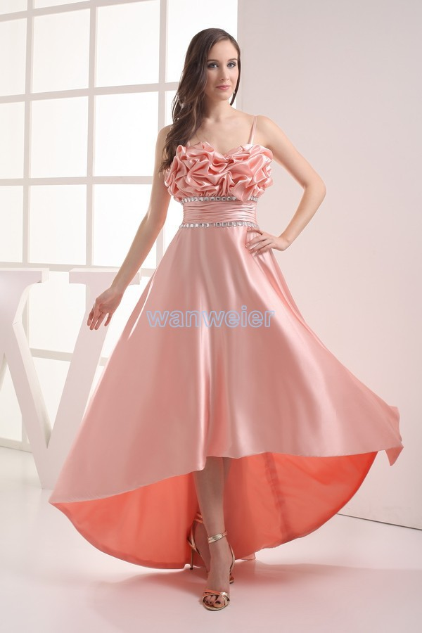 Free Shipping 2016 Vestidos Formales Celebrity Gowns Maxi Brides Maid Dress Customized Long Pink Crystal Bridesmaid Dresses