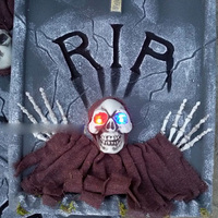 Tomb theft Theme Decorated Horror Light Skeleton Props Haunted Room Escape Organs Layout Halloween Tombstone Craft Decorations